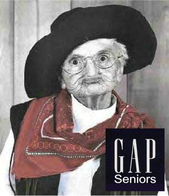 senior citizen ad for GAP