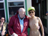 old man with naked lady